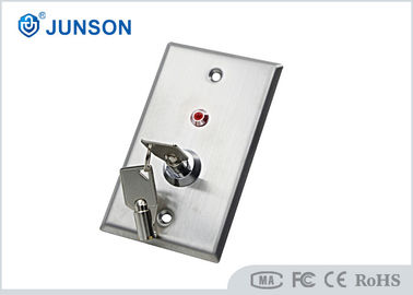 Trung Quốc DC 36V Stainless Steel Door Release LED Key Switch For Door Access Control nhà cung cấp